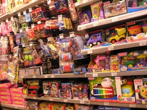 Plastic toys are just one category from which we purchase in abundance in the U.S.